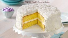 Finally, a coconut recipe that's easy to crack. Whip up a Classic Angel Flake Coconut Cake in no time. #JELLO