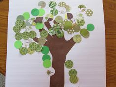 Earth Day Trees... great quilt block of each kids hand! Beautiful!  You could use different patterns to make the different seasons.