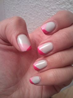 Pink and gray nail art by ME! :)