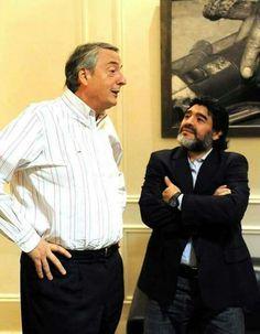 Néstor Kirchner y Diego Armando Maradona Nestor Kirchner, Diego Armando, Rock And Roll, Popular, Llamas, Politicians, Pj, Anime, Amor