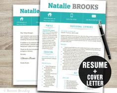 resume and cover letter template resume by businessbranding 1500 - Professional Cover Letter For Resume