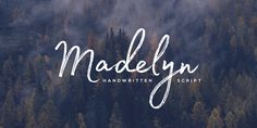 Madelyn is handwritten script font based on the expression of real handwriting. Amiable and organic, it is perfect if you want to convey individuality and style. It`s written by calligraphy pen with casual dry strokes and a signature style.A script cont…