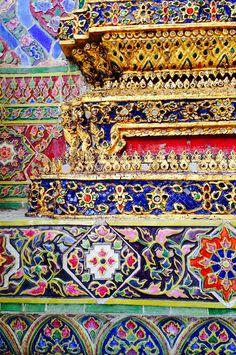 Detail from the Grand Palace, Bangkok, Thailand