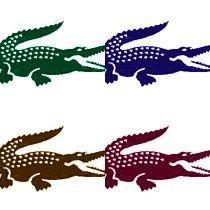 Crocodile Stencils - coloured
