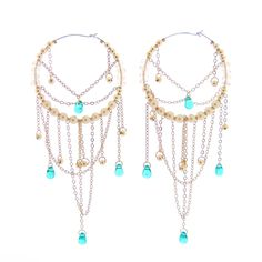 Pearl Hoop Chandelier Earrings Gatsby by JeannieRichard on Etsy