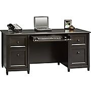 Shop Staples® for Sauder® Edgewater Collection Executive Desk, Estate Black. Enjoy everyday low prices and get everything you need for a home office or business.