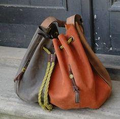 Marlena handmade leather woman handbag OVERSIZE LADYBUQ by ladybuq