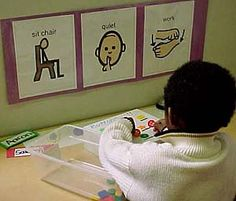 Workstation Visual Cue. Repinned by Autism Classroom @ http://www.pinterest.com/autismclassroom