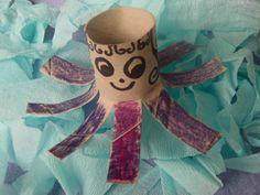 Crafting Animals From Toilet Paper Rolls - Octopus craft for preschool sea creature fun