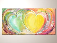 Title: Together in light    Size: 39.37 x 19.69 inches artist: Henriette Szabo - freelanced artist     - with high quality artist acrylics and