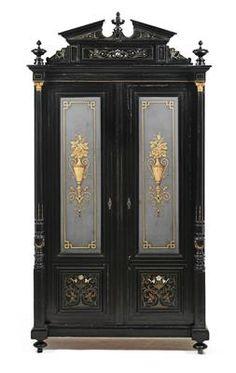 Makart style cabinet or vitrine,