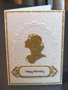 Gold and cream birthday card