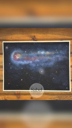 Watercolor Comet Painting