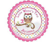 Whoos Birthday? Owl cake sugars, can be personalized