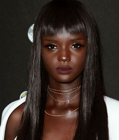 Nyadak Duckie Thot is an Australian-Sudanese model and she holds a very special place among many other models because of her strikingly beautiful looks. Dark Beauty, Ebony Beauty, Beauty Skin, Black Is Beautiful, Beautiful Dark Skinned Women, Beautiful Gowns, Dark Skin Makeup, Dark Skin Girls, Black Barbie