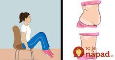 Nemáte čas cvičiť a chodiť do posilňovne? Ukážeme vám jednoduchý spôsob, ako si vyformovať brušné svalstvo počas sedenia na stoličke!