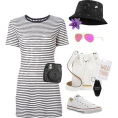Coffee Please by fromphilly on Polyvore featuring polyvore, fashion, style, Theory, Converse, Marc by Marc Jacobs, Ray-Ban, NIKE, Sonix and Goodlife