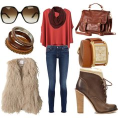 I can do this with my new fur vest & green pump boots :)