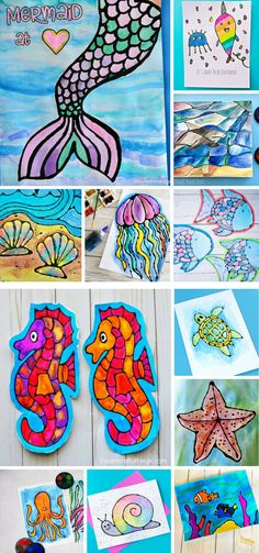 Our Black Glue Jellyfish Art works well within an under the sea theme. An easy art idea for kids that uses resist techniques to create colourful fishy art.