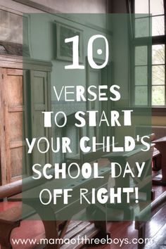 bible verses to start the school day off right! - Back to school verses. Praying before sending your children off to school!Back to school verses. Praying before sending your children off to school! Raising Godly Children, Prayers For Children, Raising Kids, Praying For Your Children, Parenting Humor, Parenting Tips, Parenting Classes, Parenting Styles, Foster Parenting