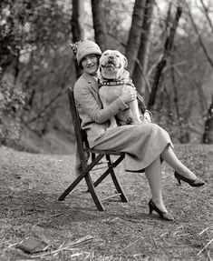 Lovely Vintage Pictures of Dogs Smiling When Photographed with Their Owners