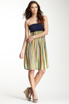 Strapless Printed Dress on HauteLook from the brand 24/7 comfort! --I am in love with this dress.