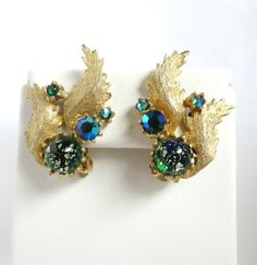Vintage Signed JUDY LEE Green Sparkle and AB by LeesVintageJewels