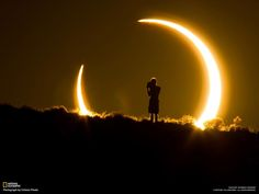 An onlooker of the annular solar eclipse witnesses the celestial event on May 20, 2012 (Photo and caption by Colleen Pinski)