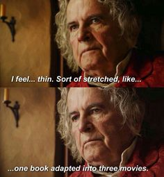 Exactly, Bilbo! Even though more Middle-Earth movies the better, I say.