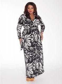 Wren Wrap Dress in Tropic Noir