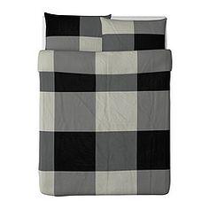 IKEA - BRUNKRISSLA, Duvet cover and pillowcase(s), Full/Queen (Double/Queen), , Twin includes 1 Queen pillowsham and Full/Queen includes 2 Queen pillowshams.