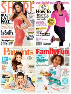 CHEAP Magazine Subscriptions to Shape, Weight Watchers, Family Fun or Parents just $3.28/yr!