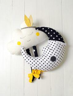 Moon Pillow Moon Cushion Crescent Moon Pillow Nursery Decor
