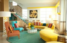 Mod Living Room. I. Love. This.