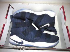 364714715750 Nike Lebron Soldier XI TB Mens Basketball Shoes 14 Midnight Navy White  Nike   BasketballShoes