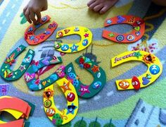 Use felt to make the horseshoes and put kids' names on them - then let them decorate. Good luck charms for March?