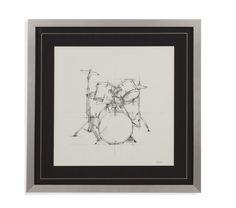 Bassett Mirror Drum Sketch Framed Art [9900-864EC]