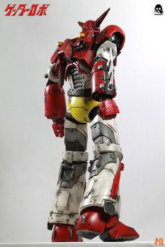 """16"""" (40.64cm) tall and fully poseable Getter Robot - Getter 1 collectible is about to ship and we want to share with you these stylish hands-on photos done by 橙默style, who clearly had some fun with Getter! Head to our Facebook page to see the whole gallery: https://www.facebook.com/media/set/?set=a.1341842265841598.1073741952.697107020315129&type=1&l=94066f503d #threezero #GetterRobo #GetterRobot #GoNagai #KenIshikawa #mecha"""