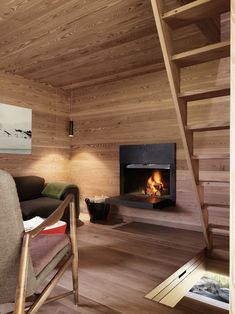 Modern Rustic Architecture – Sarreyer Cabin By Rapin Saiz Cottage In The Woods, House In The Woods, Architecture Design, Cottage Windows, Bohinj, Timber Panelling, Oak Panels, Wooden Stairs, Swiss Alps
