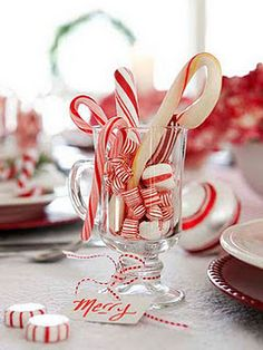 "Candy Cane Mug....great as ""place card"" for each guest!"