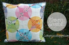 Flowering Snowball - Pillow Complete! by Cut To Pieces, via Flickr