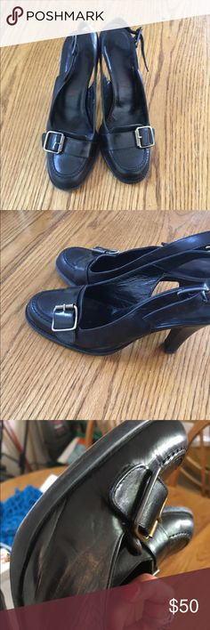 Michael Kors Open Back Heels Authentic Michael Kors Leather Pumps. Open back. Side buckle. Size 6.5 KORS Michael Kors Shoes Heels