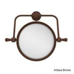Allied Retro Dot Collection Wall Mounted Swivel Make-Up Mirror 8-inch Diameter with 2X Magnification