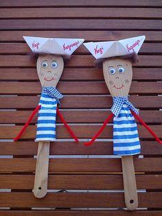matrozen van een houtenlepel