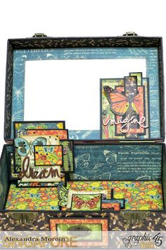 Nature Sketchbook Box&Notebook&ATC, Tutorial by Alexandra Morein, Product by Graphic 45, Photo 7