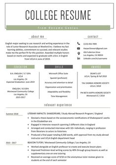 High School Resume Skills Examples Awesome College Student Resume Sample & Writing Tips Resume Writing Tips, Resume Skills, Resume Tips, Free Resume, Resume Ideas, Resume Cv, Essay Writing, High School Resume Template, Job Resume Template