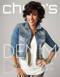 Magali Amadei Denim Days: Denim Gets Haute #DenimDays #chicos More