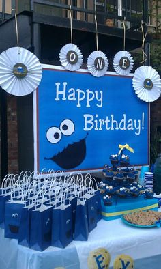 Cookie Monster Birthday Party Ideas | Photo 5 of 12 | Catch My Party
