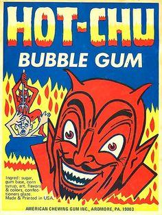 Hot-Chu vending machine card (1970s) Devil; Satan