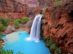 Havasu Falls, Arizona; One of my all-time favorite hikes.  Would love to do this again!